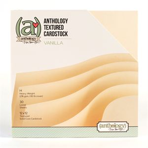 Picture of *50% OFF* Anthology Textured Cardstock Pack - Vanilla (30 sheets)  *SALE* WHILE SUPPLIES LAST